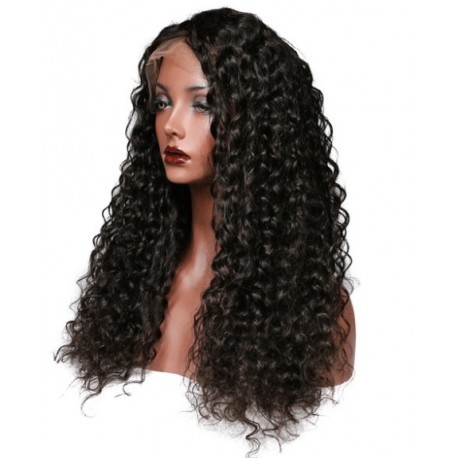 Human Hair Lace Front Wig Deep Wave